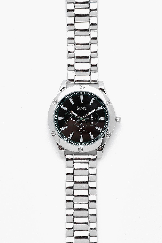 Купить Наручные часы, Серебряный браслет с отделкой в виде зеленого лица, boohoo