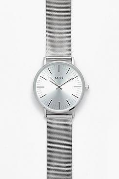 Orologio con cinturino argento a rete