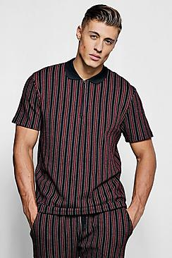 Wide Set Stripe Smart Polo