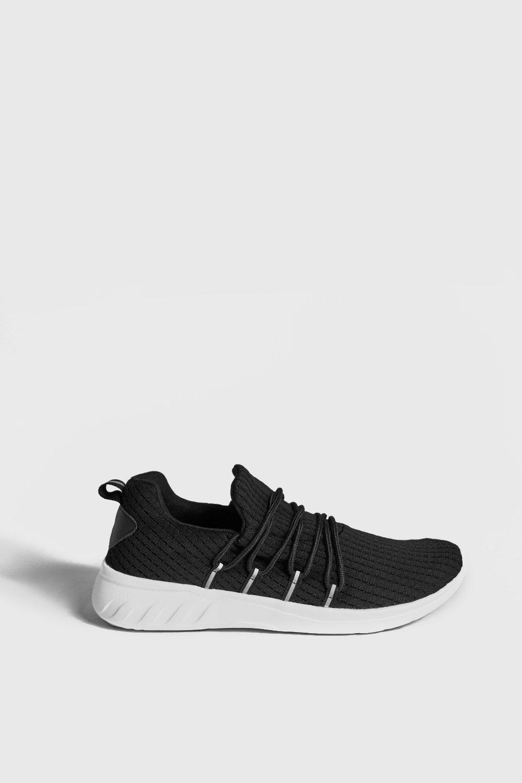 Купить Footwear, Кроссовки с вязаным верхом со светоотражающими полосками, boohoo