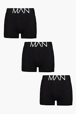 Confezione con 3 paia di boxer neri Man
