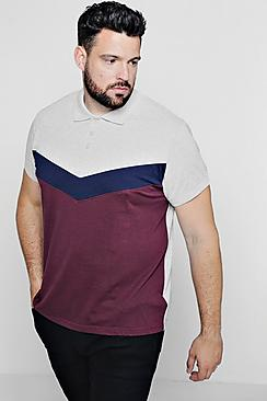 Big & Tall Chevron Panel Polo