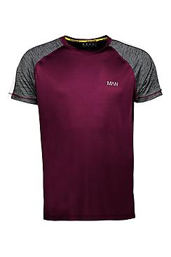 Active Raglan Colour Block Gym T-Shirt