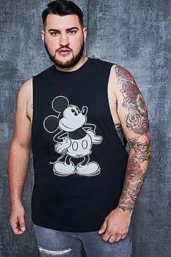Big And Tall Disney Mickey Crew Neck Tank