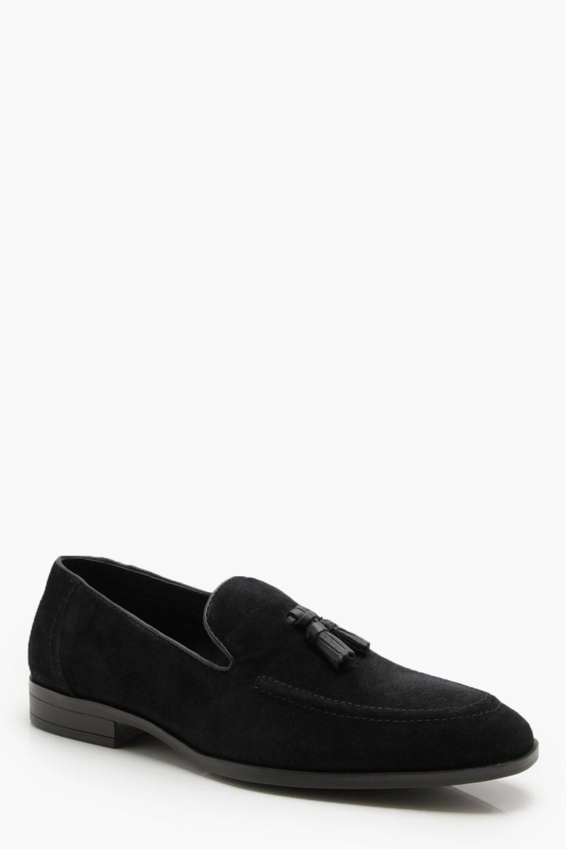 Купить Footwear, Лоферы из натуральной замши с кисточками, boohoo