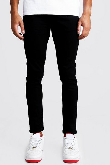 Skinny Fit Denim Jeans in Black