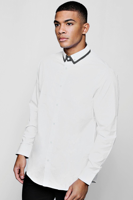 Купить Shirts, Узкие Smart Рубашка с длинными рукавами с заостренным воротником, boohoo