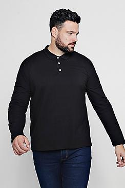Big And Tall Long Sleeve Polo