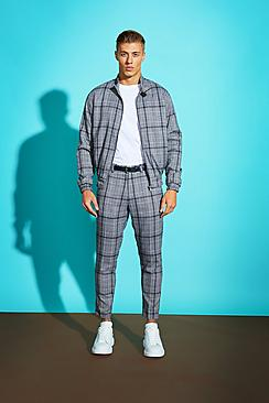 Grid Check Harrington Jacket