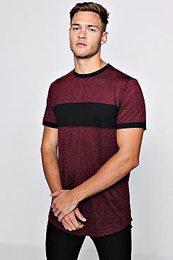 Aztec Rib Colour Block T-Shirt