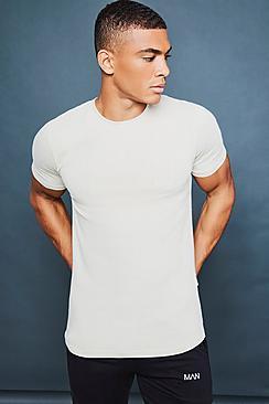 Maglietta taglio sagomato per il tempo libero con stampa riflettente