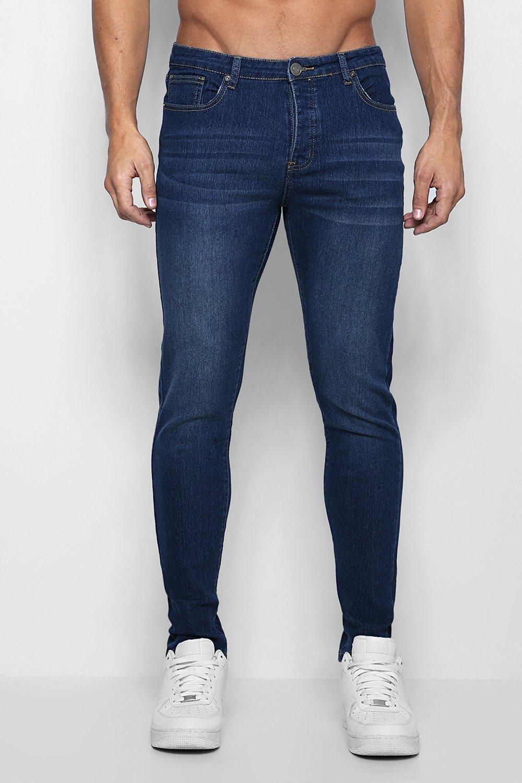 Купить Jeans, Джинсы-скинни In темный синий, boohoo