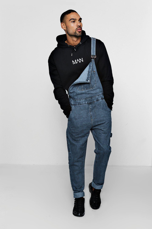 Купить Jeans, Джинсовый комбинезон приталенного кроя из грубой джинсовой ткани, boohoo