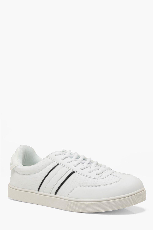 Купить Footwear, Спортивные на подошве Cupsole в стиле ретро из искусственной кожи, boohoo