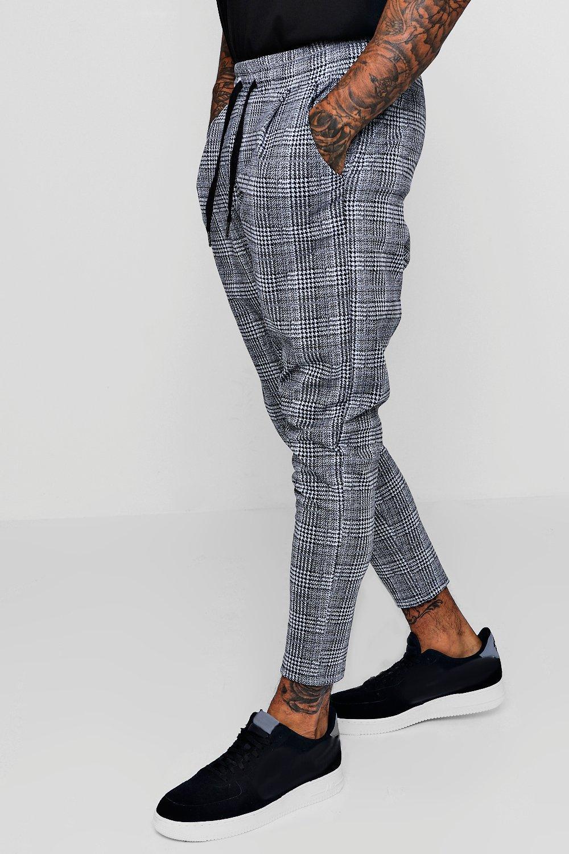 Купить Trousers, Изысканные брюки для бега в клетку, boohoo