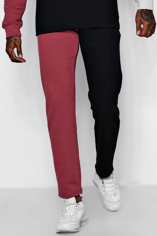 Купить Joggers, Разноцветные узкие брюки для бега из флиса и джерси, boohoo