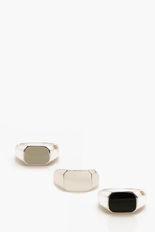 Купить Jewellery, Enamel Colour Signet Rings, boohoo