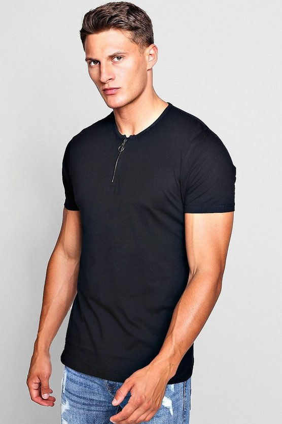 Zip Placket T-Shirt