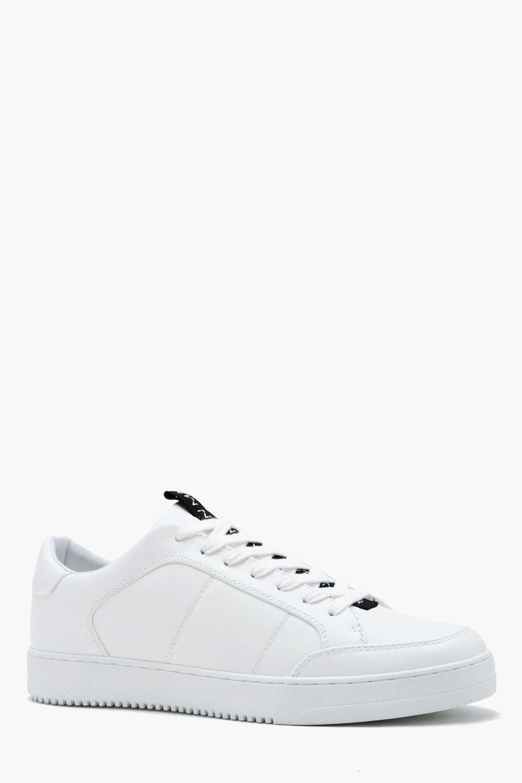 Купить Footwear, Кроссовки из искусственной кожи с полосами-вставками из коллекции MAN, boohoo
