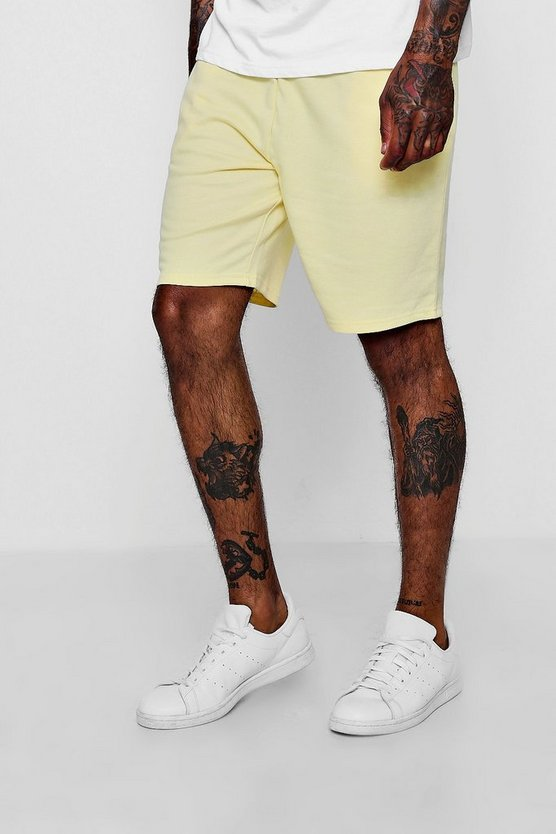 Mid Length Pastel Jersey Shorts