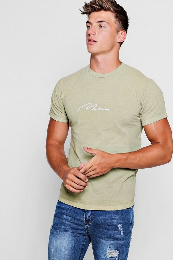 Washed Signature Man shirt Signature Man T PEq0YxnHt