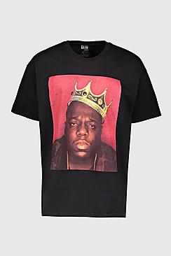 Big And Tall Biggie Crown License T-Shirt