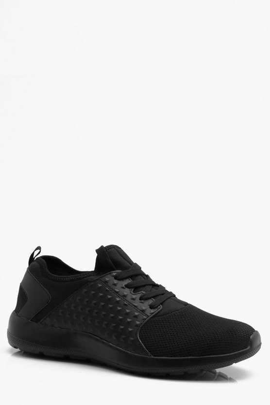 Mesh Front Textured Side Trainer