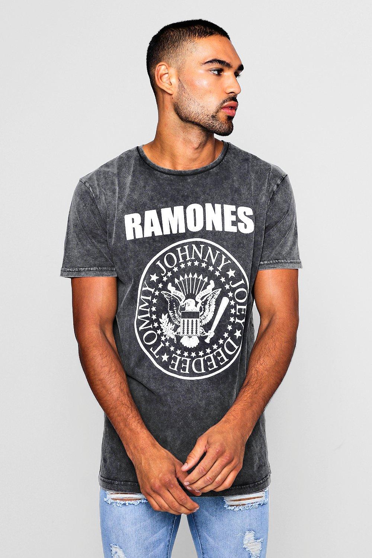 Купить T Shirts, Классическая футболка с принтом <Ramones> с эффектом выцветания, boohoo