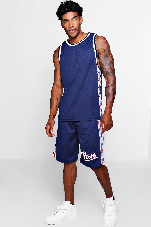 Купить Tracksuits, Американо Stars Баскетбольные шорты со вставками, boohoo