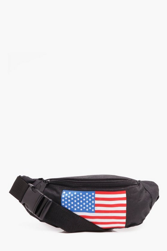 USA Flag Canvas Bumbag