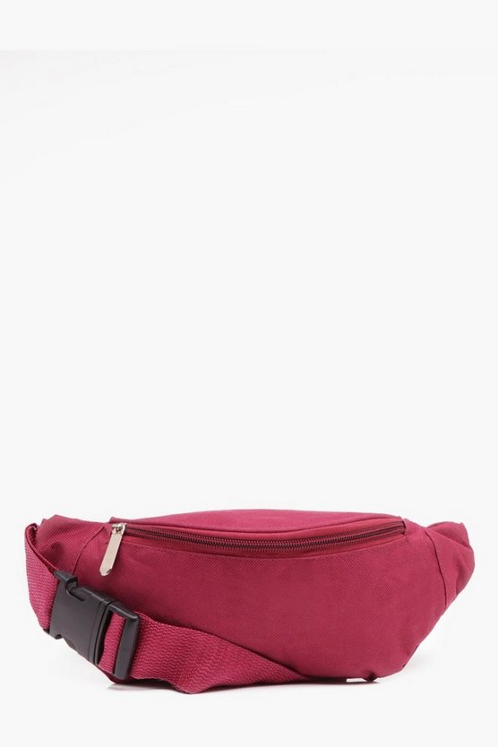 Burgundy Basic Canvas Bag
