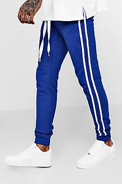 Coordinato con pantaloni jogging skinny fit a righe