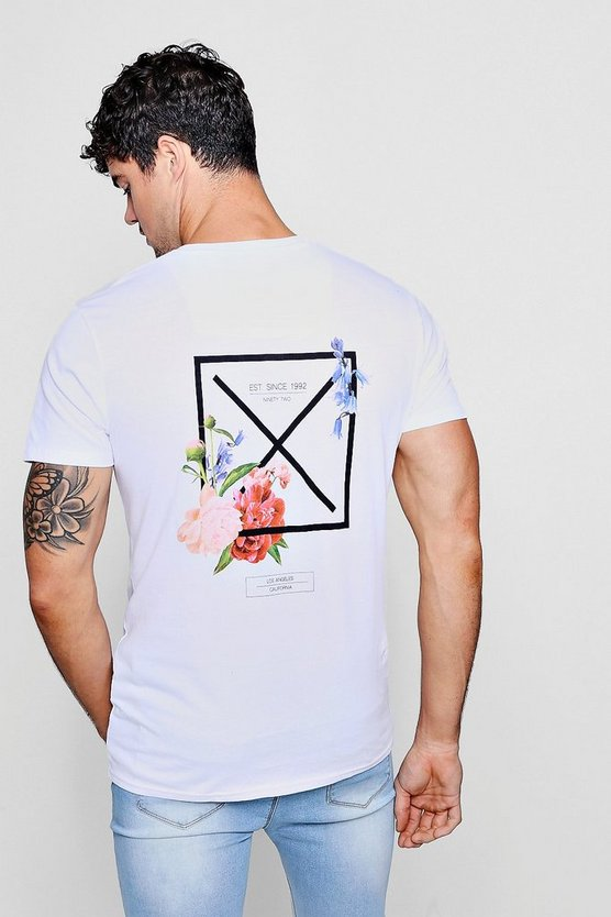 Back Print T-Shirt In Regular Fit