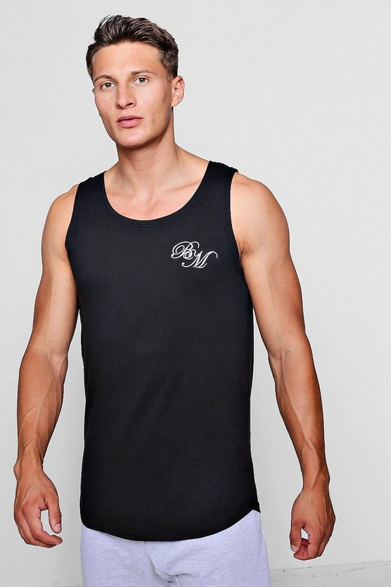 Longline Vest with B and M Embroidered Logo