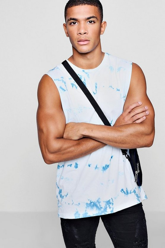 Tye Dye Raw Edge Tank