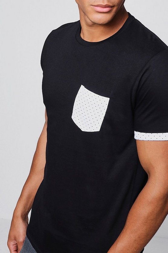 Crew Neck T-Shirt With Polka Dot Design