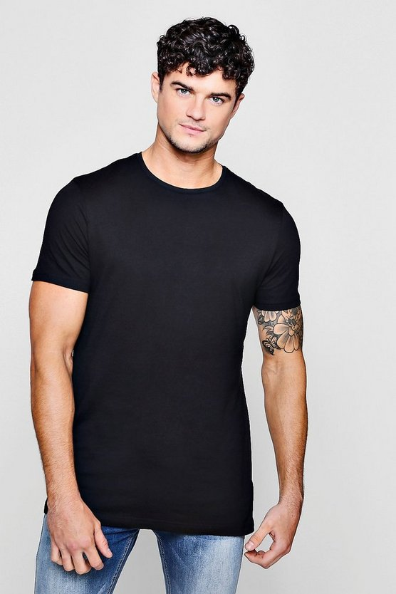 Crew Neck T-Shirt With Step Hem T-Shirt