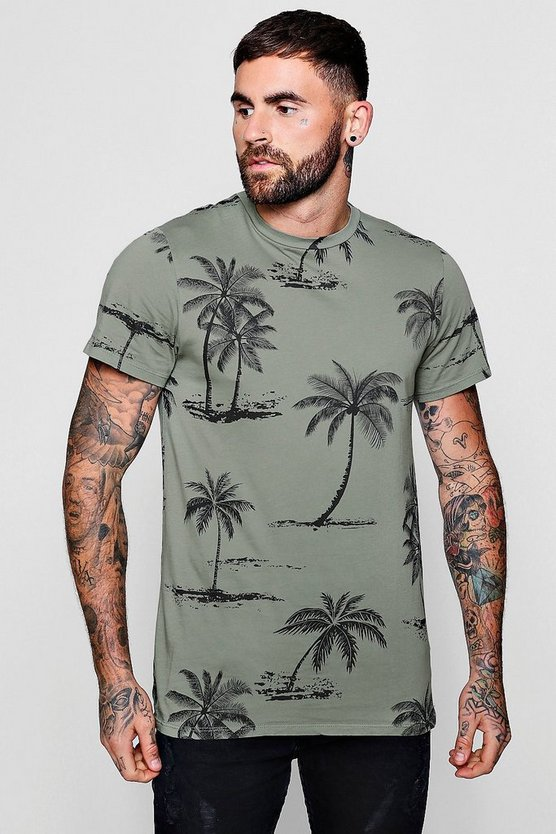 Palm Print Oversized T-Shirt