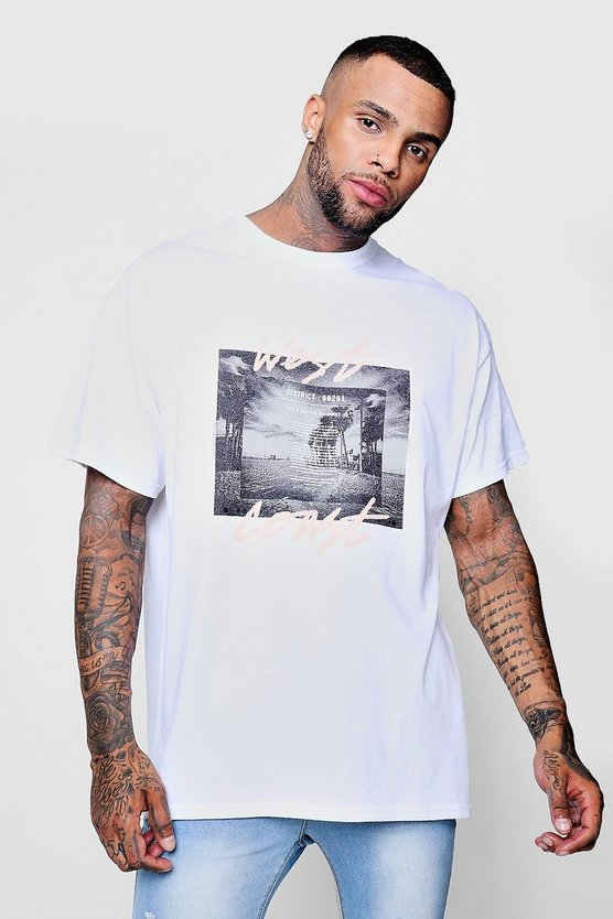 Oversized West Coast Photo Print Tee