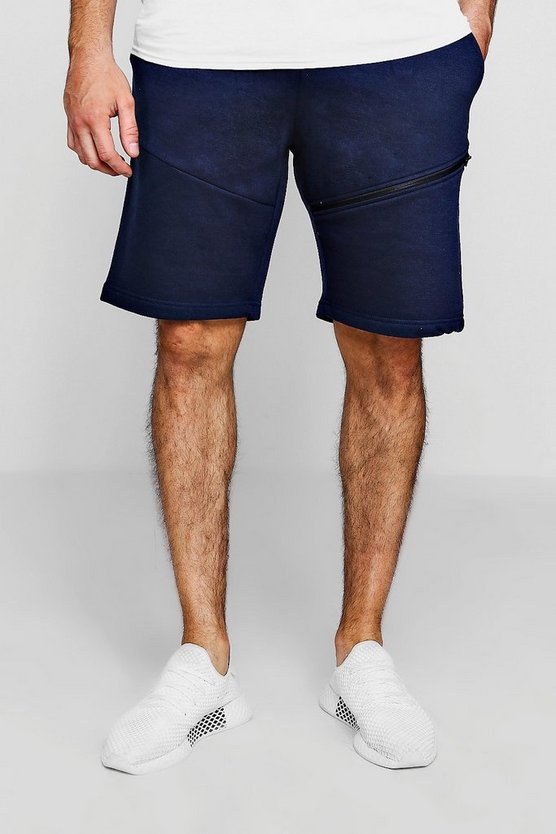 Side Zip Jersey Shorts