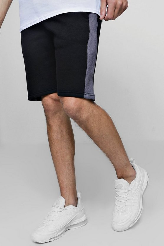 Side Panel Jersey Shorts