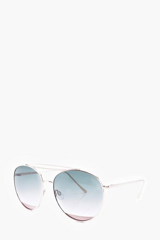 Metal Detail Rounded Aviator
