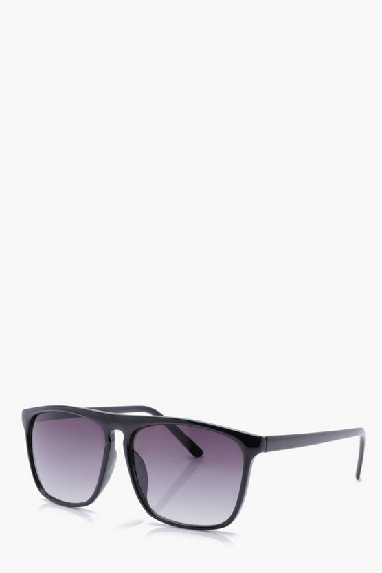 Ombre Lens Black Retro Sunglasses