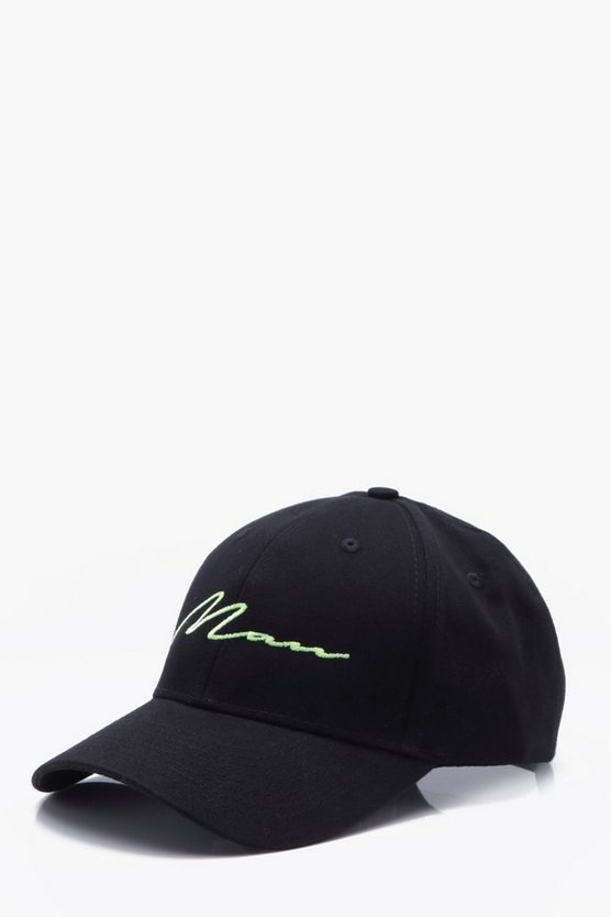 Neon Embroidered MAN Cap