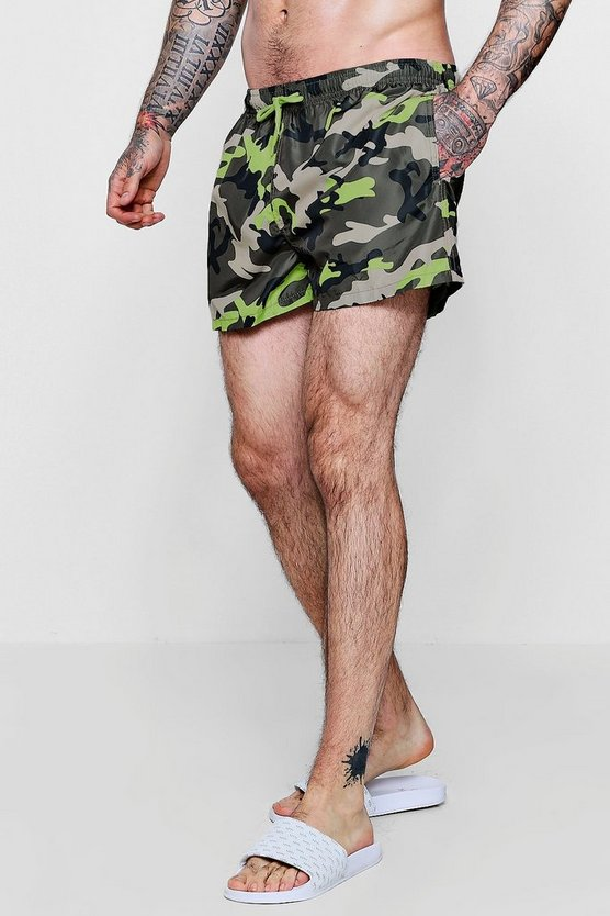 Camo Extreme Short Length Swim Short