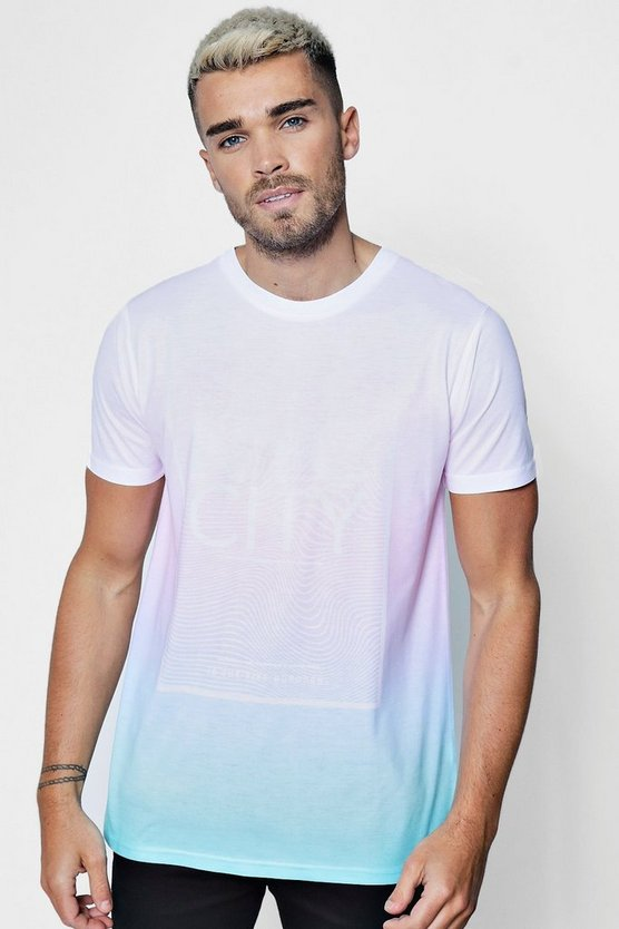 NYC Ombre Dye Design T-Shirt