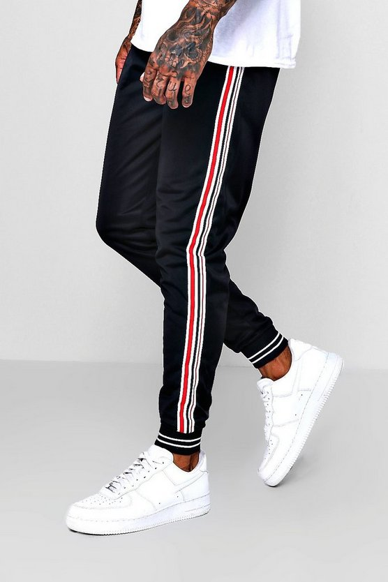 Side Stripe Cuffed Jersey Jogger