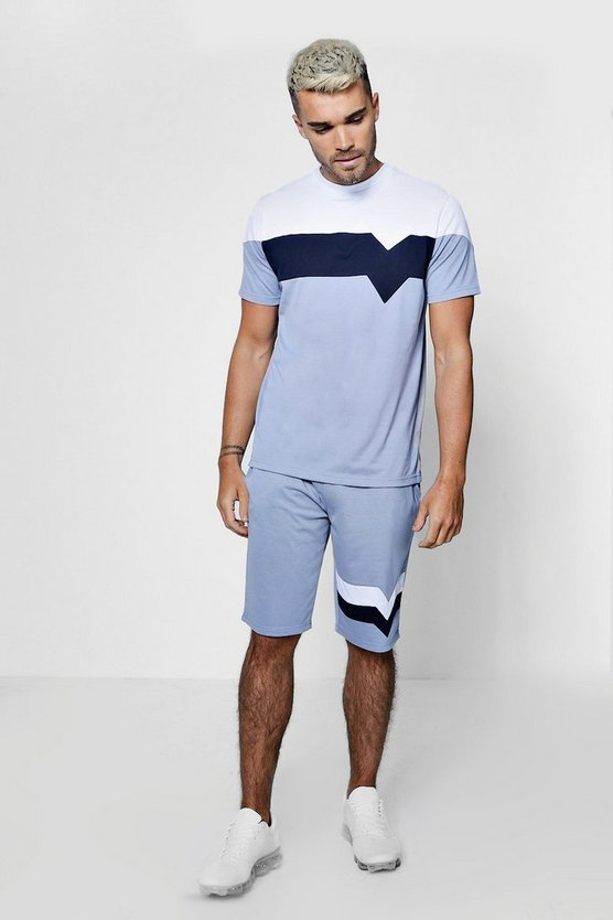 ensemble short et t-shirt colorblock