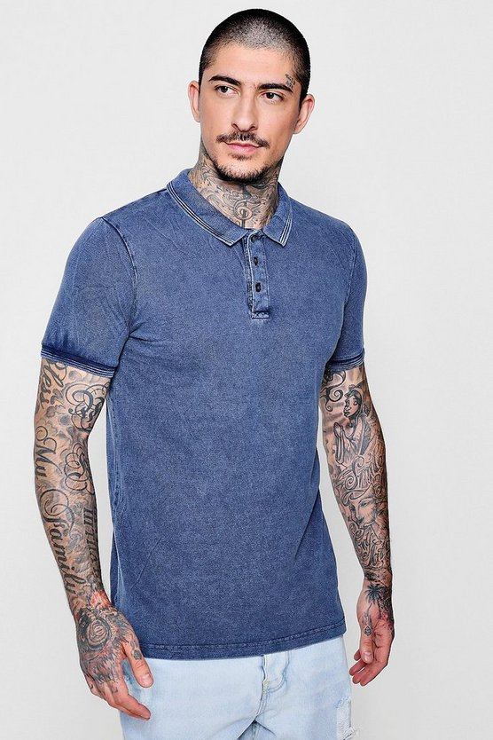 Cotton Pique Washed Polo