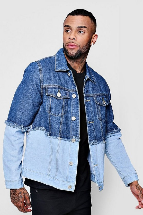 Spliced Denim Jacket
